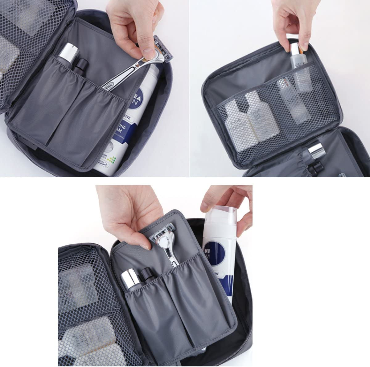 Grey Movona Packing Cubes Travel Luggage Organizer Storage Bags Compression Pouches