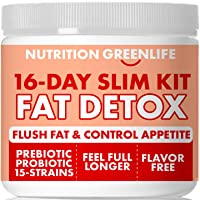 16-Day Weight Loss Fat Detox & Cleanse, Appetite Control with Garcinia, Fiber, Probiotics...