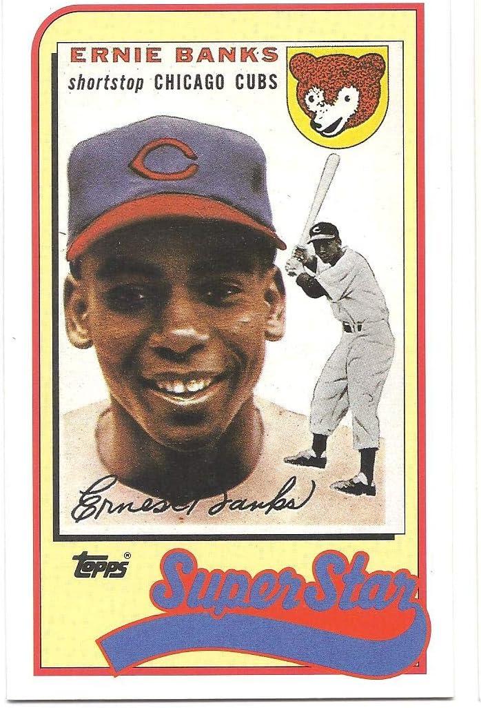 ERNIE BANKS 1989 Topps Talk/LJN #17 Card Chicago Cubs Baseball