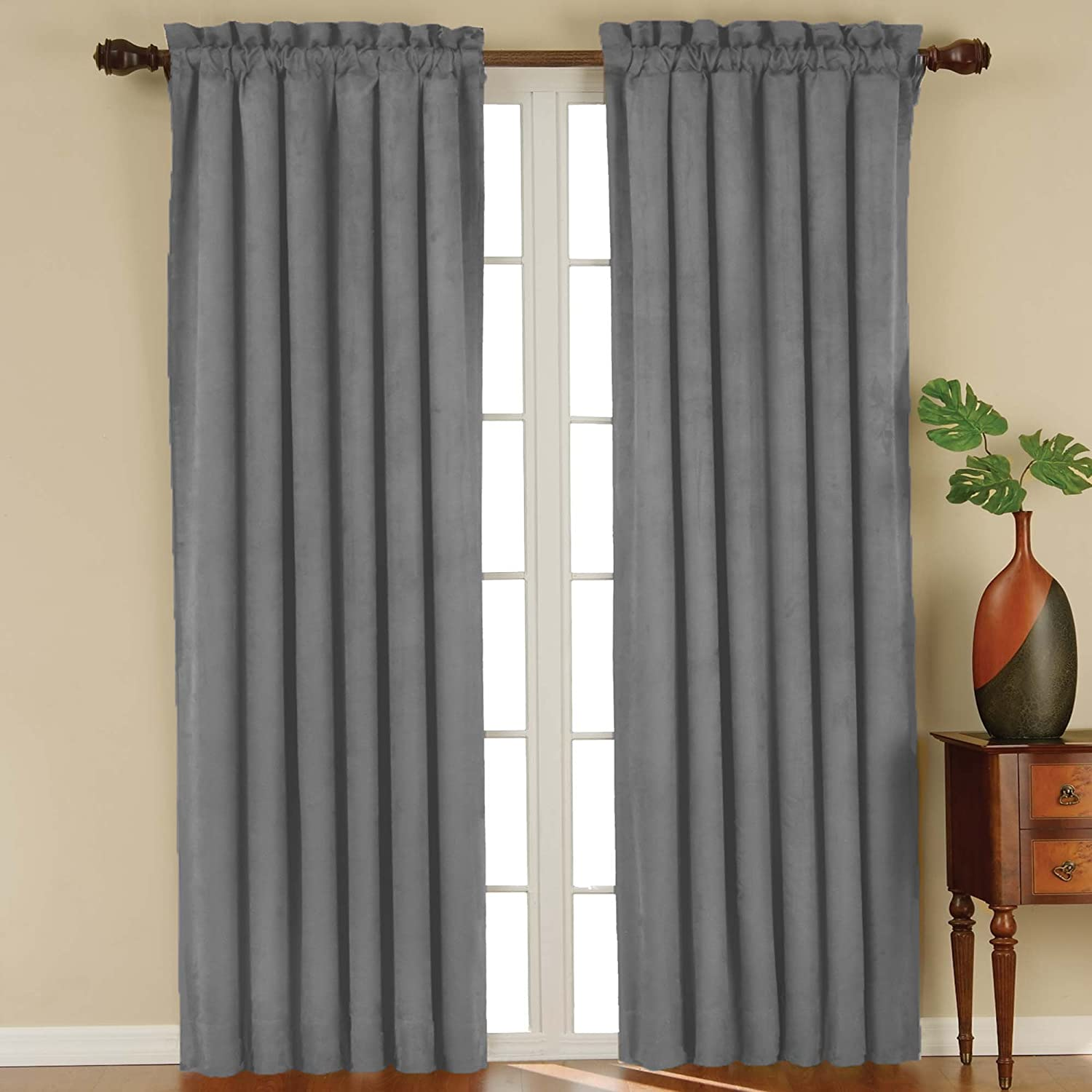 Eclipse suede blackout panel de cortina de ve envio - Blanquear cortinas ennegrecidas ...
