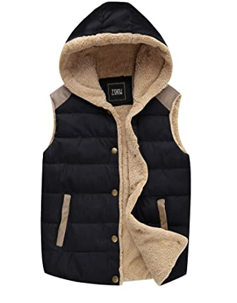 951af2e17a071 Amazon.com  ZSHOW Women s Outwear Casual Thicken Qulited Hooded Vest ...