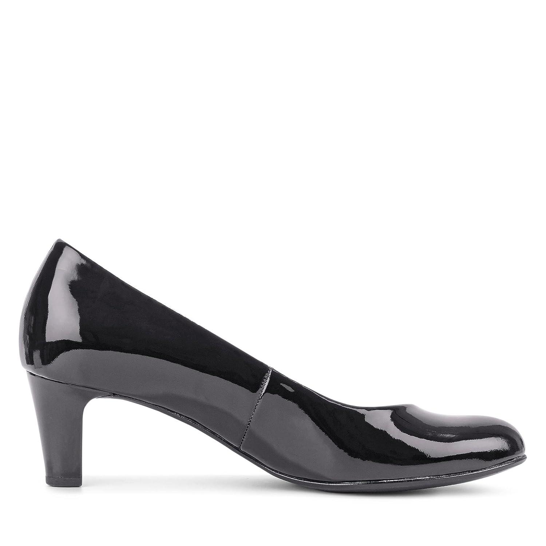 Gabor Schuhes Pumps Basic, Damen Pumps Schuhes schwarz Patent Hi-tec f63d95