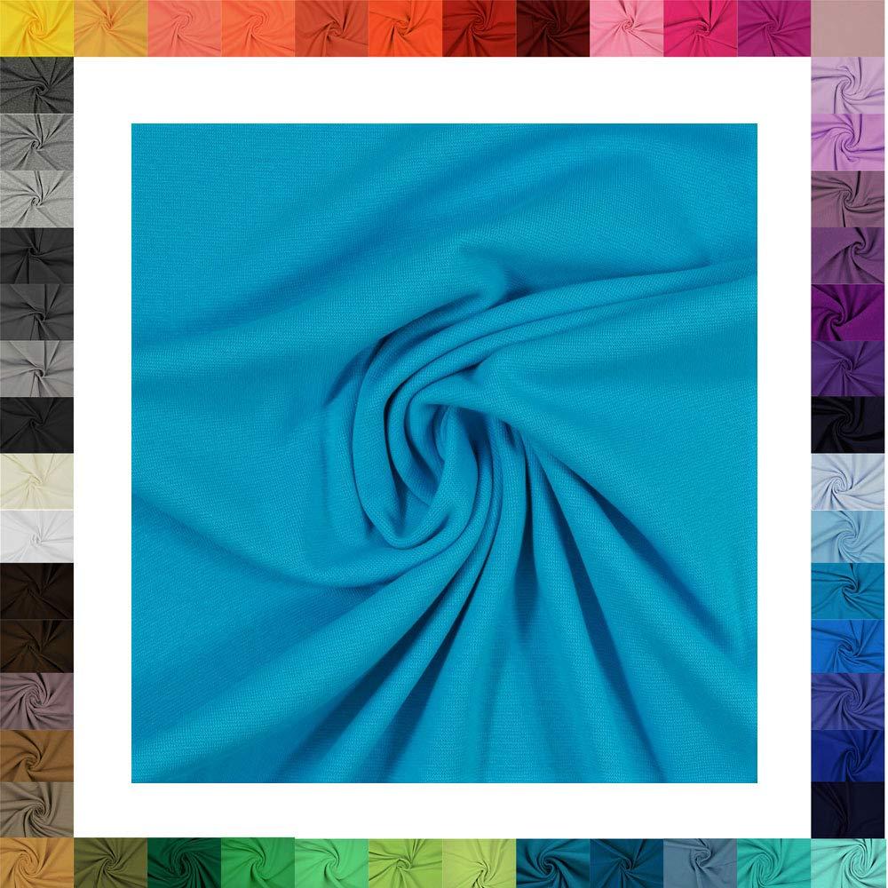 0801 Taupe 1 Meter Jersey Baumwolljersey Uni Farben /Öko-Tex Standard 100 Stoffe 220g//m/² 330g//lfm