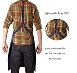 Work Apron for Men, Durable Leather and Brass
