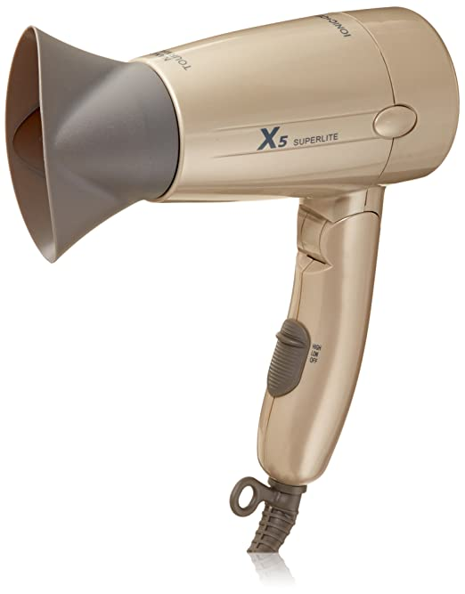 X5 Superlite 1600W Dual Voltage Ceramic-Ionic Travel Dryer