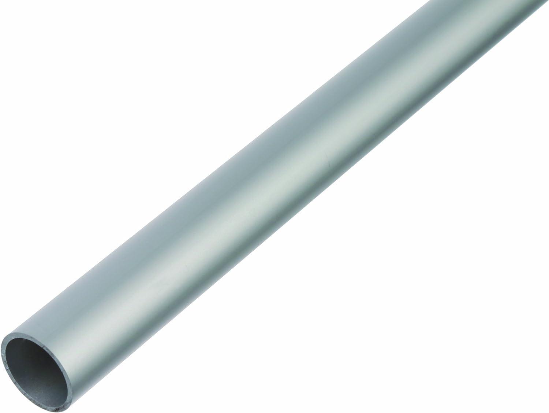 Aluminium silberfarbig eloxiert 1000 x 6 x 1 mm GAH-Alberts 473419 Rundrohr