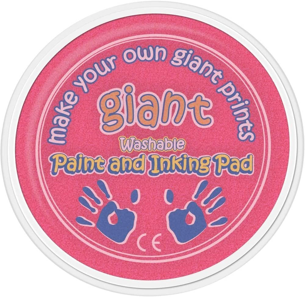 Palm Stamping Printing 15cm Arts /& Crafts - Hand Giant Orange Paint Pad
