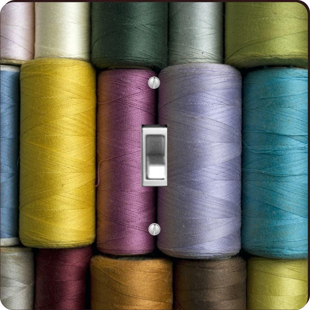 Rikki Knight RK-LSPS-9213 Vintage Sewing Thread Design Light Switch Plate Cover