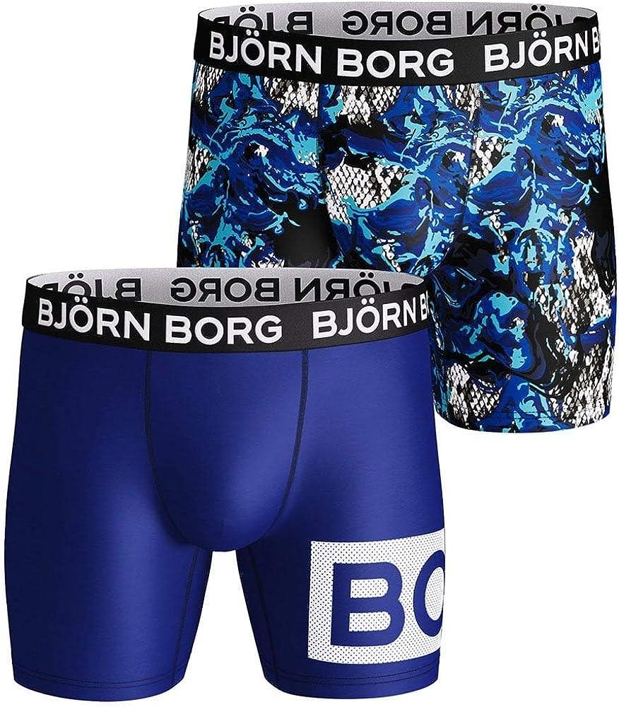 Bjorn Borg 3-Pack BORG Radiate Logo Men/'s Performance Boxer Briefs Black