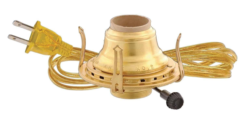 B/&P Lamp #2 Queen Anne Burner w//Antique Brass Finish