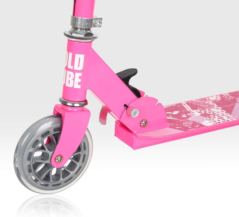 T/ÜV gepr/üft Kickboard Tretroller 4 Stufen Einstellbare H/öhe Faltbar ab etwa 5 Jahre der sichere Premium Kinder Roller BOLDCUBE Dreirad Roller mit PU LED R/äder