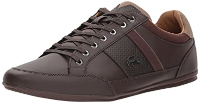 #Lacoste Chaymon 118 Dark Brown Leather Mens Trainers Shoes-9
