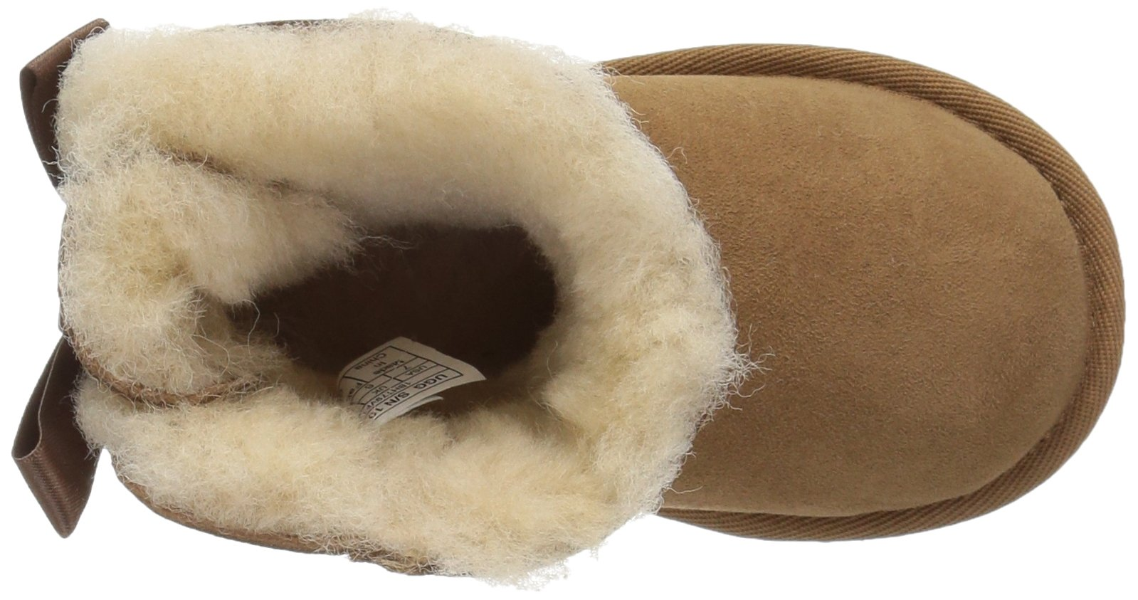 UGG Girls T Mini Bailey Bow II Pull-on Boot, Chestnut, 12 M US Little Kid by UGG (Image #8)