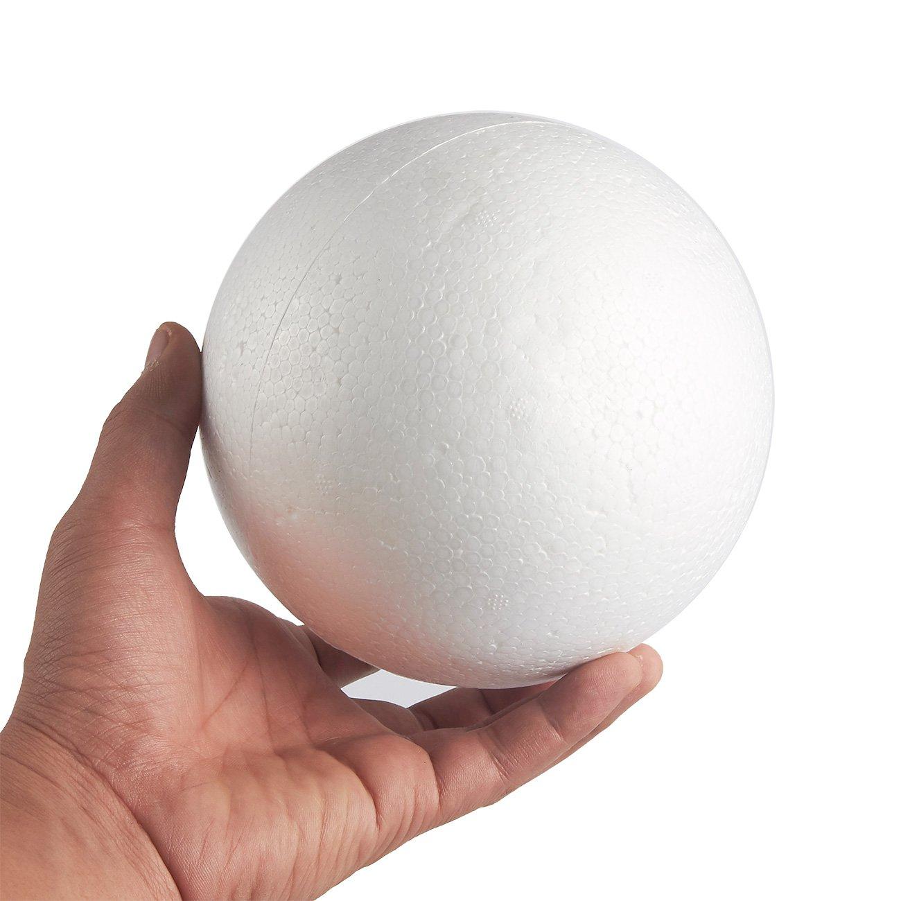 Juvale Craft Balles en mousse–2-pack Large sans rond en mousse de polystyrène Balles Art Craft Utilisation–rend la DIY Ornaments projets décole–Blanc mariage 15cm de diamètre 4336861734 Science modelage Décor