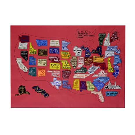 United States All 50 US State Fridge Magnets & Puerto Rico PR Magnet