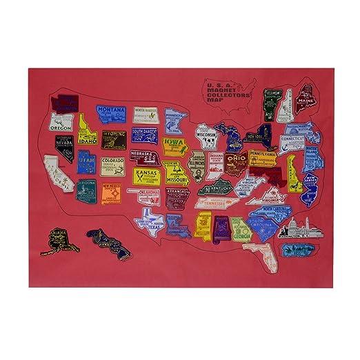 Estados Unidos todos los 50 Estado de los Estados Unidos imán de ...