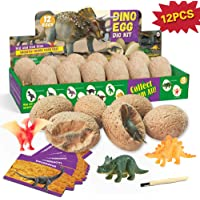 XXTOYS Huevos de Dinosaurio 12 excavación de Huevos de Dinosaurio 12 Juguetes de Dinosaurio Arqueología Paleontología…