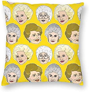 antcreptson Golden Girls in Stay Golden Throw Pillow Decorative Pillow Case Home Decor Square 18x18 Inches Pillowcase