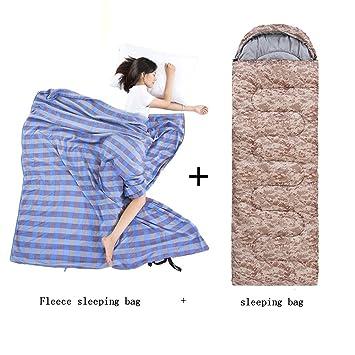 ZXQZ Saco de Dormir Camo Solo Saco de Dormir Adulto al Aire Libre Que acampa Grueso ...