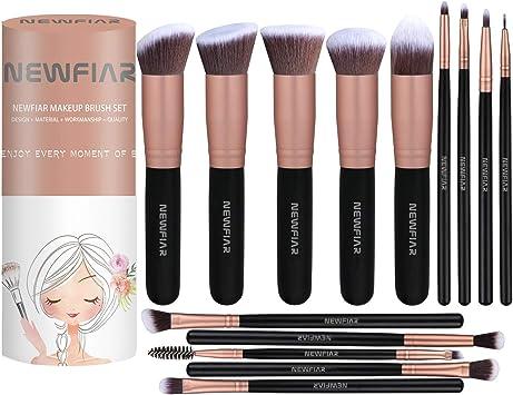 Set de brochas de maquillaje NEWFIAR: Amazon.es: Belleza