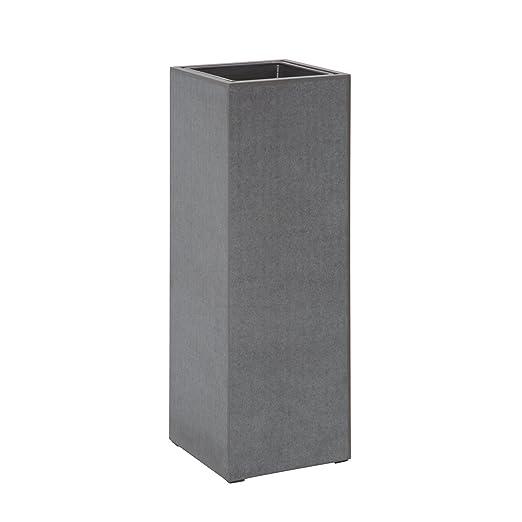 Design Säule CEMENT 100cm In- und Outdoor Pflanzkübel Beton-Optik ...