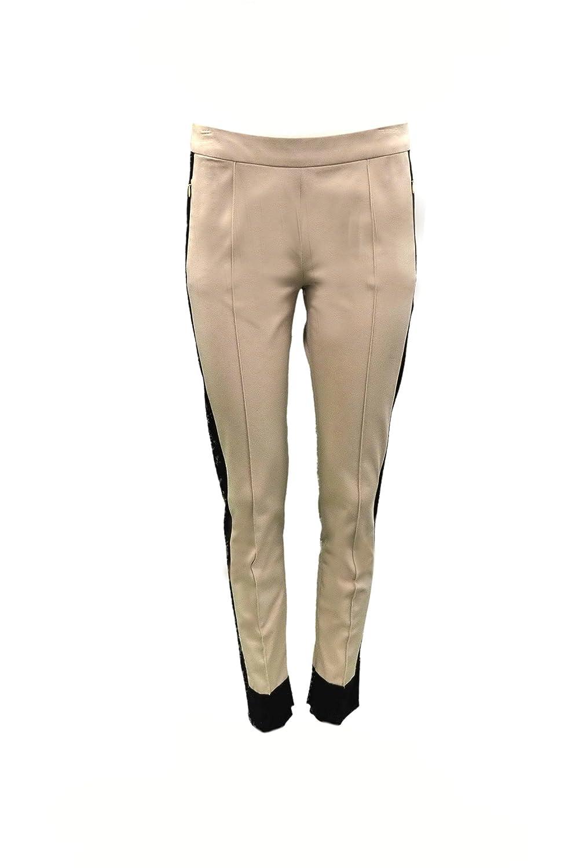 SPORTMAX Womens ColorBlock SION Slim Pants Sz 8 Sand/Beige/Black 150094MM