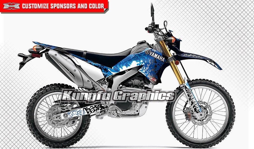 Kungfu Graphics Shining Monkey DC Shoesカスタムデカールキットfor Yamaha wr250r 2008 2009 2010 2011 2012 2013 2014 2015 2016、ブラックブルー WR250X ブルー YMWRX08150097 WR250X style 021 B079PLSDGZ