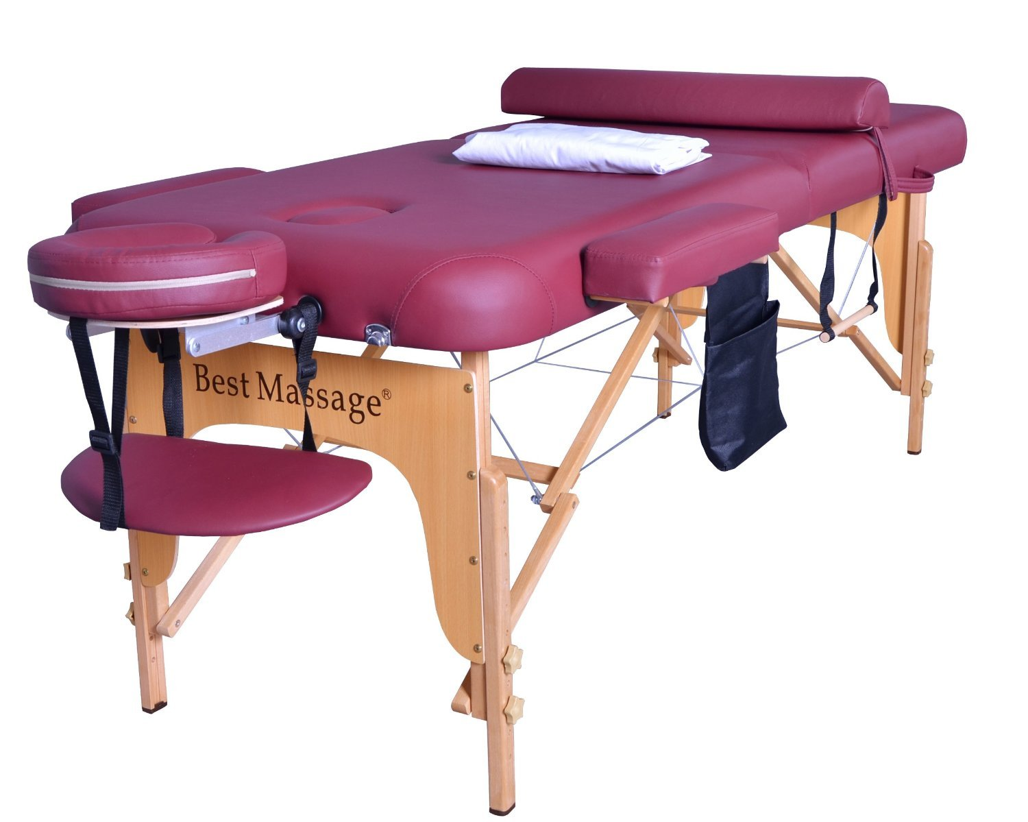 """Amazon.com: 2.5"""" Massage Table Portable Facial SPA Bed W/Sheet  ... for Massage Bed Top View  568zmd"""
