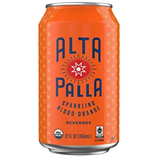Alta Palla Blood Orange Certified Organic Sparkling Juice, 12 Fluid Ounce Cans, 8 Count