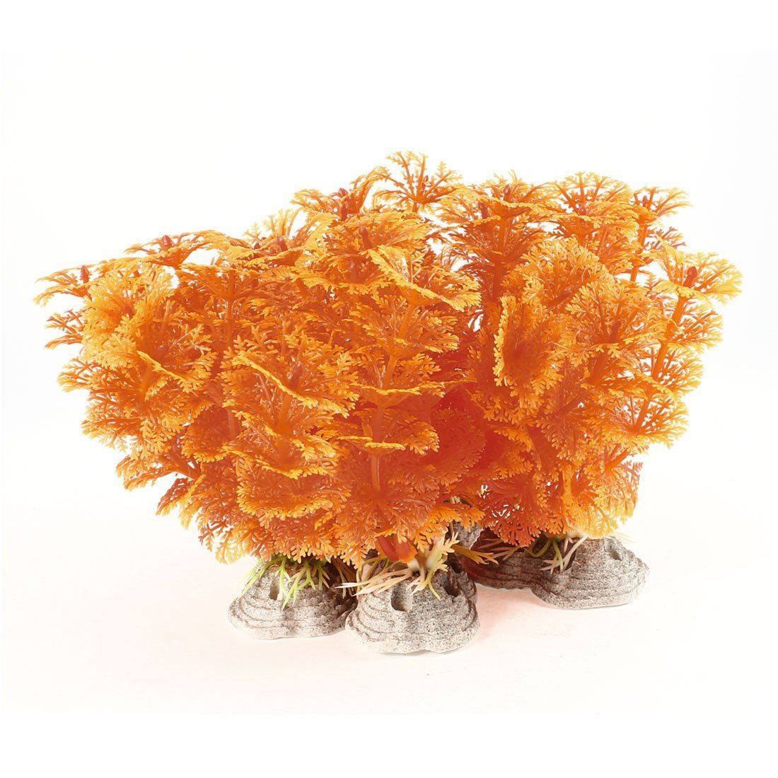 1Pc 4 Piece Aquascaping Snowflake Plant Aquarium Ornament, 4 , orange