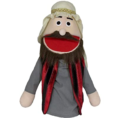 "Puppet Partners 18"" Bible Rich Man Puppet, Brown Hair: Toys & Games"