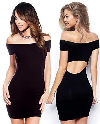 9398a580781d41 Sexy T Shirt Off Shoulder Backless Dress Bodycon Holiday Mini Dresses for  Casual Summer Dinner with