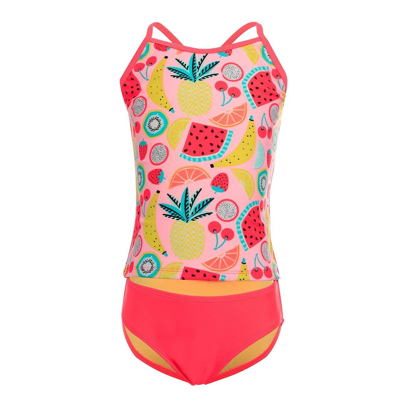 DAYU Girls Bathing Suit Swimsuit Pegasus/Pineapple/Mermaid Printed Swimwear Kids Beachwear Tankini -Age 4-14