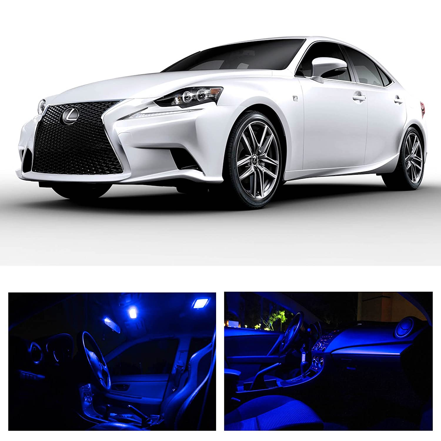 Amazon Lexus IS250 IS350 ISF 2014 2015 Blue Premium LED