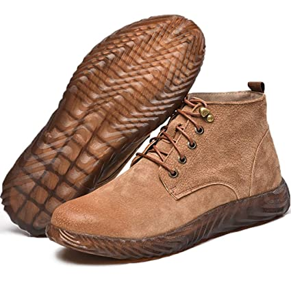 Zapatos de seguridad Calzado alto de algodón ligero de algodón anti- ácaros para hombre,