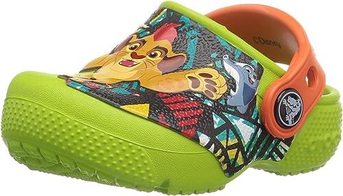 Amazon.com: Crocs Kids crocsfunlab Lion Guardia – Zuecos ...