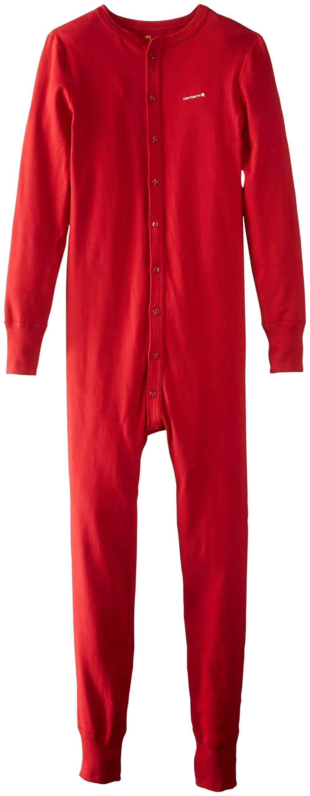 Carhartt Men's Midweight Cotton Union Suit, Red, Medium Regular by Carhartt