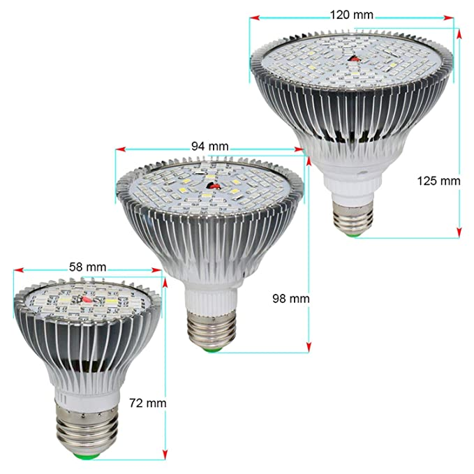 Amazon.com : Led Bulbs Led Lamp Aluminum Full Spectrum Aquarium Led Lamps for Plants E27 220V 110V 30W 50W 80W Led Bulb Grow Light, 30W 40Leds : Garden & ...
