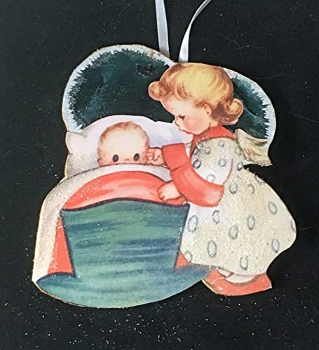 child angel ornament handcrafted wooden christmas decoration daughter granddaughter gift sunday school grab bag - Handmade Angels Christmas Decorations