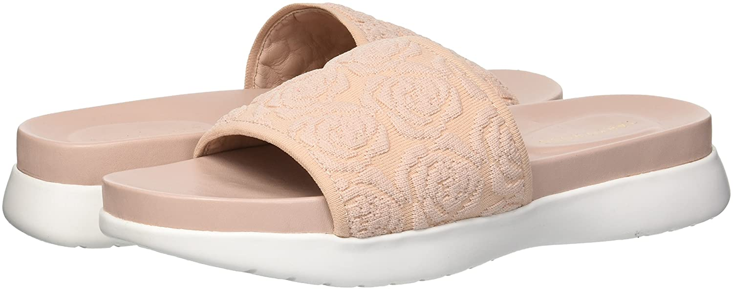 Taryn Rose Women's B075MQFLLX Iris Knit Slide Sandal B075MQFLLX Women's 9 M M US|Blush 3c6002