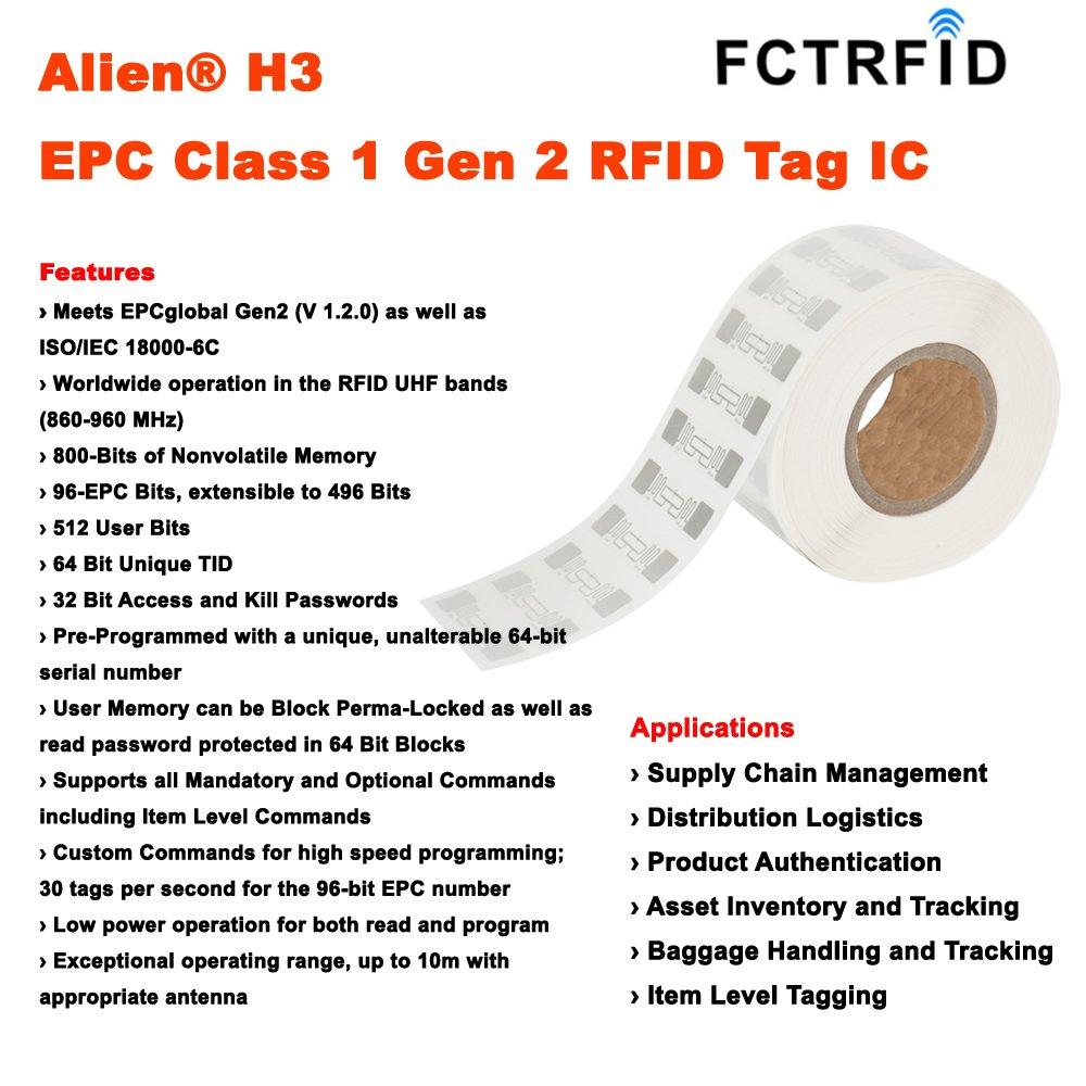 Amazon com : Alien H3 Card UHF Higgs-3 RFID Card ISO PVC