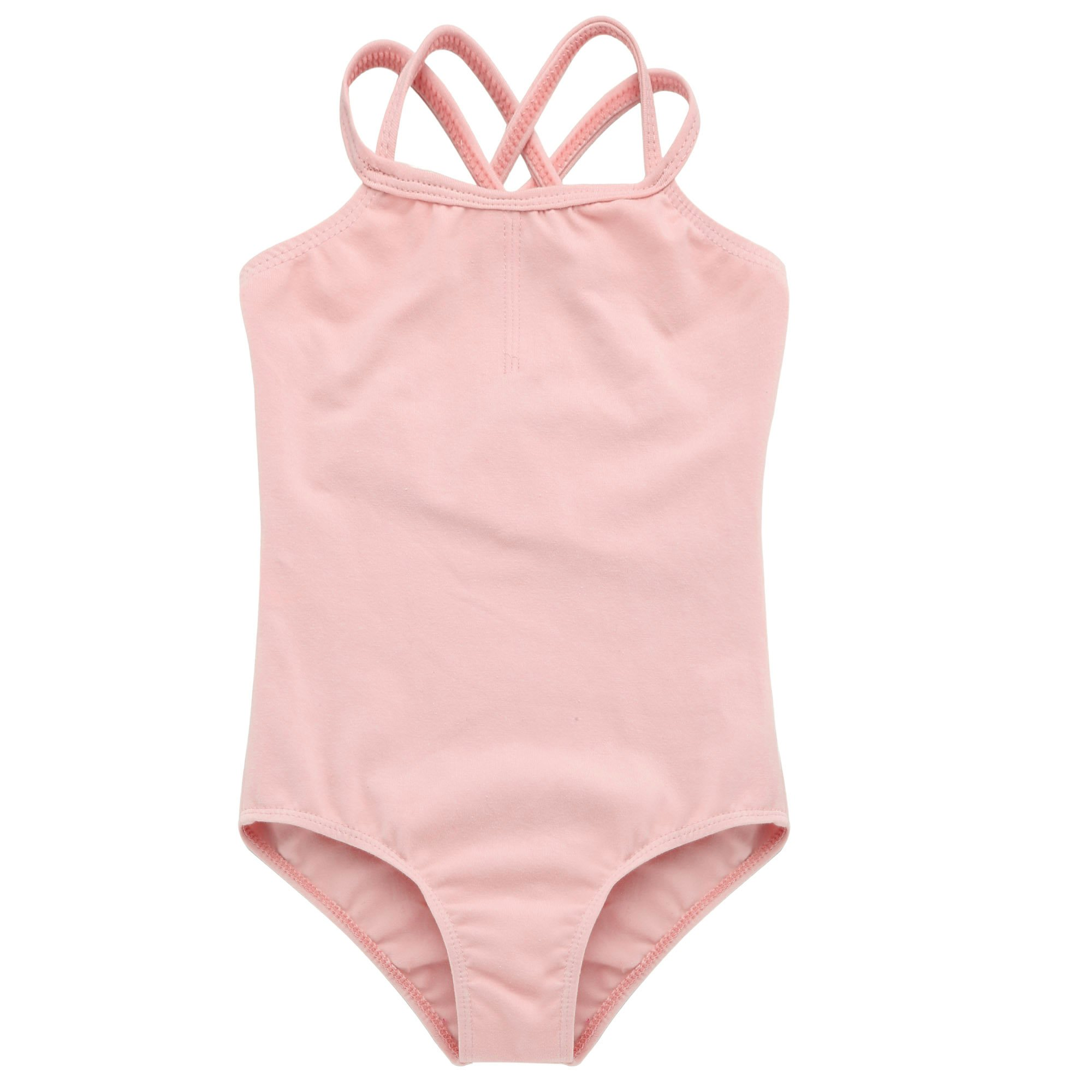 7e8110394 Arshiner Kids Girl s Double Strap Slim Solid Camisole Leotard