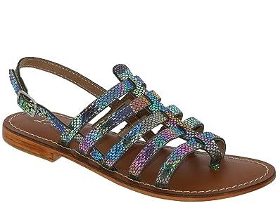 L'atelier Tropezien Sh605 Beige cuir - Chaussures Sandale Femme