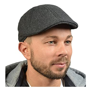1e4922f2051a46 Trendy Hipster Gatsby Mütze/ Sportmütze/Schirmmütze für Herren-Dunkelgrau-  Winter/ Cooler