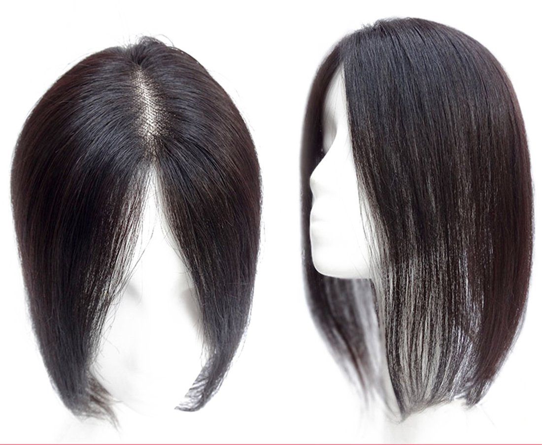 Amazon Human Hair Mono Topper Clip In Crown Hair Extensions