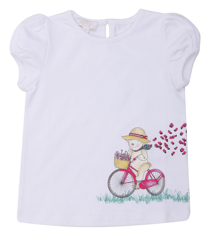 Gucci - Camiseta de manga corta - para niño blanco 18 meses: Amazon.es: Ropa y accesorios