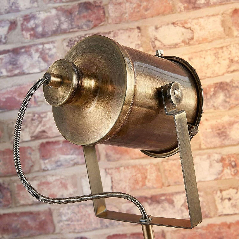 1 luce, E27, A++ Soggiorno /& Sala da pranzo di Lampenwelt Moderno colore Marrone Lampada da terra Ebbi lampada da terra in Metallo ad es