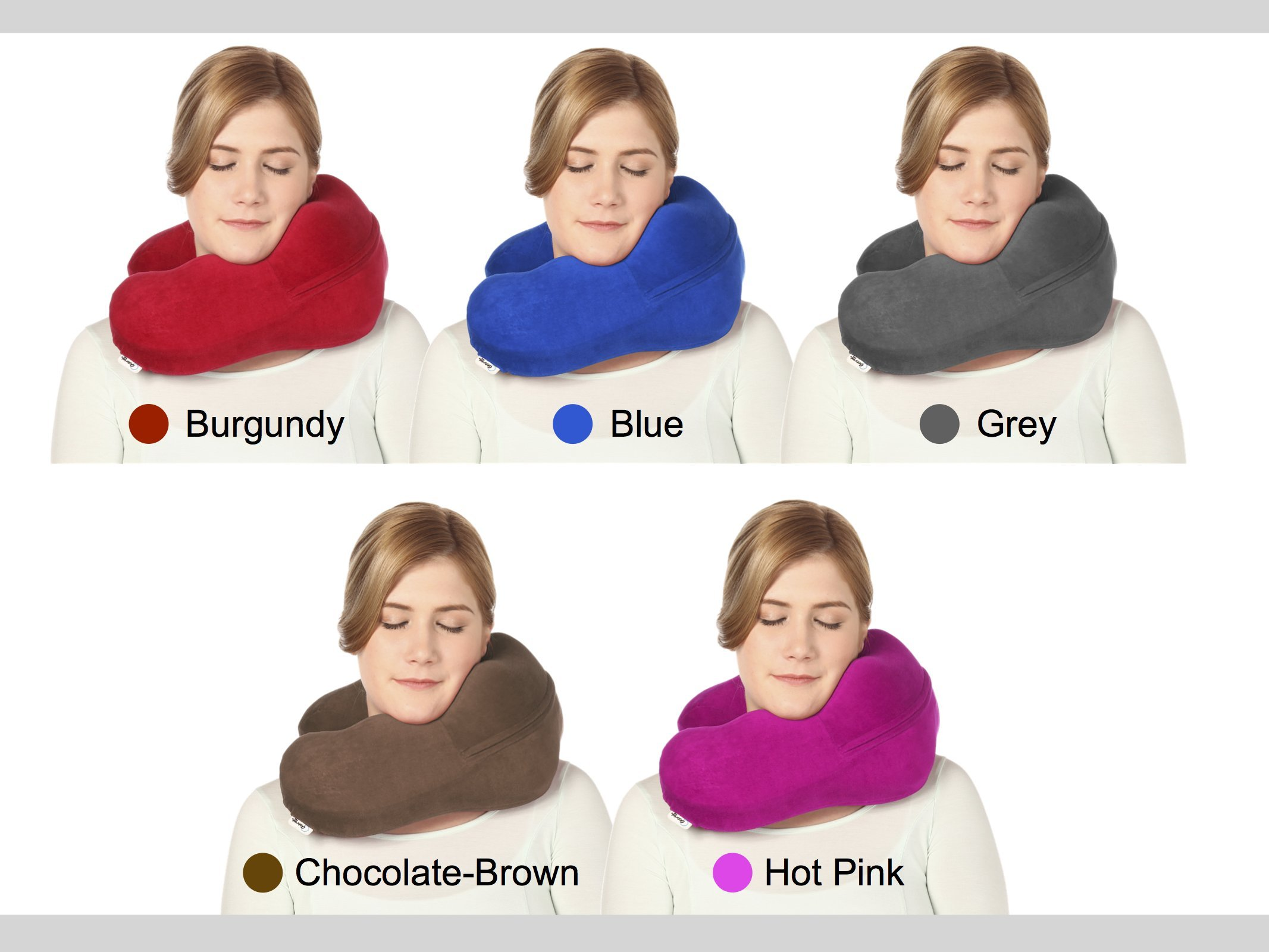 Best Supportive Chiropractor Recommended Neck Pillow - Pain Relief - The Ultimate Support Pillow - Burgundy Neck Sofa