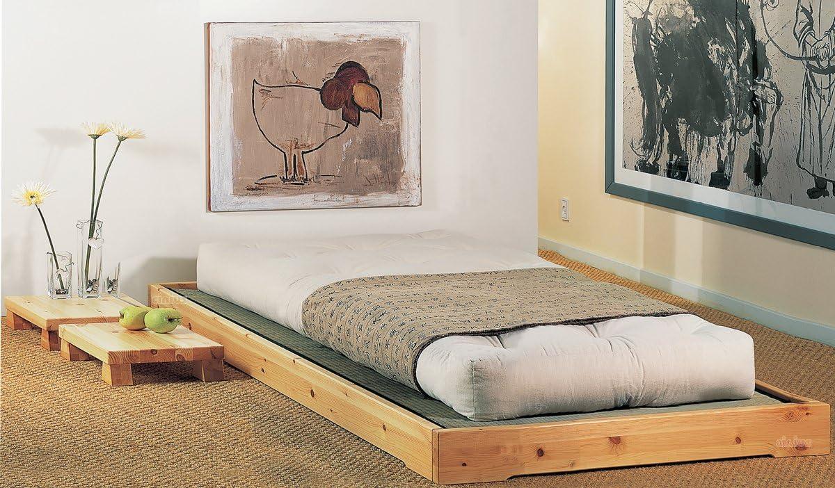 Cama de madera modelo Nokido 90 x 200 con láminas y ...