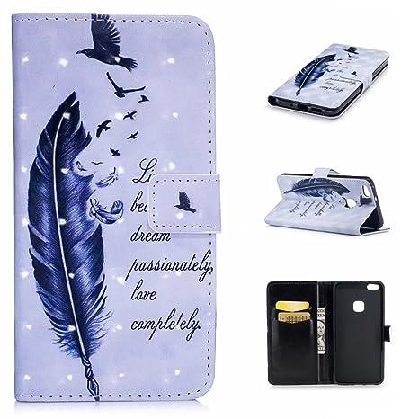 4be0d01c3 funda HUAWEI P10LITE funda billetera ranura de tarjeta de crédito  caracteristicas cuero de la PU magnético ...